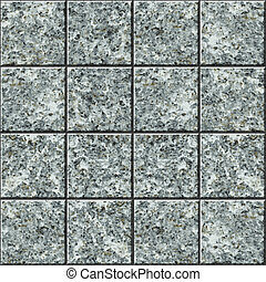 Seamless square vector texture - gray granite tile flooring