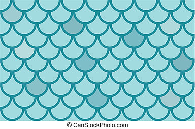 Seamless vector texture with fish scales - Seamless vector...