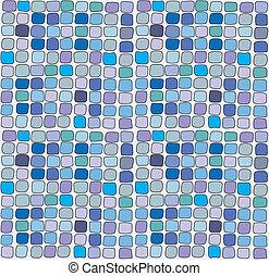 Seamless vector vitrage square texture