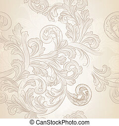 Seamless vector wallpaper pattern - Vector seamless pattern...