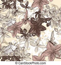 Seamless vector wallpaper pattern