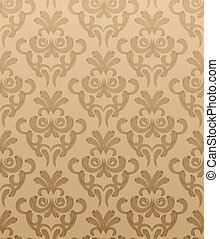 Seamless vector wallpaper - Seamless damask vector wallpaper