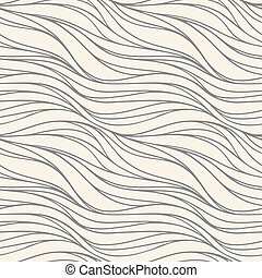 Seamless vector wave pattern. Abstract decorative background.