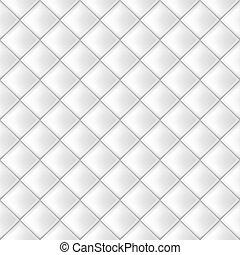 Seamless Vector White Tiles Pattern