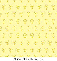 Seamless vector yellow light bulbs