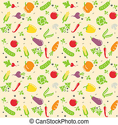 seamless vegetable texture vector illustration