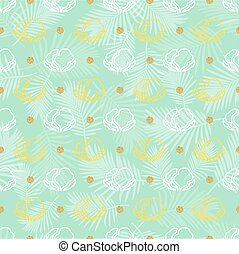 seamless vegetable with gold dot glitter pattern background