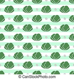 seamless vegetable with silver dot glitter pattern on stripe background