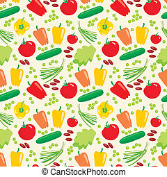 Seamless vegetables pattern