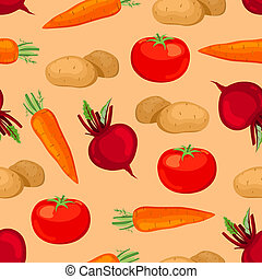 Seamless vegetables pattern.