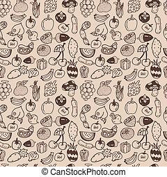 seamless, vegetal, patrón