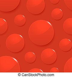 seamless, vektor, blod, bakgrund, droppar, red.