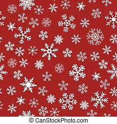 seamless, vektor, snö, bakgrund, röd