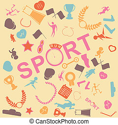seamless., vektor, tennisskor, bakgrund, sport, run.
