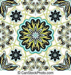 seamless, vendimia, plano de fondo, -, victoriano, azulejo, en, vector