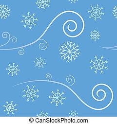 seamless, vento, e, neve