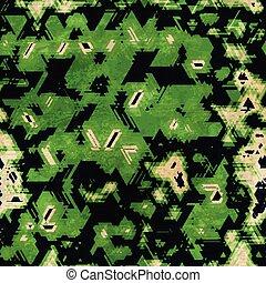 seamless, vert, camouflage, texture