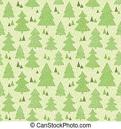 Papier Peint Vert Seamless Sapins