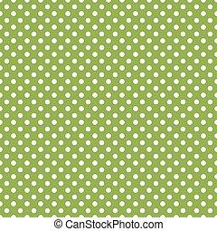 seamless, vert, pois, fond