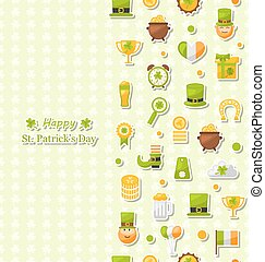 Seamless Vertical Pattern for Saint Patrick's Day