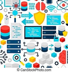 seamless, vetenskap, mönster, data