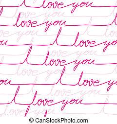 seamless, vetorial, padrão, amor