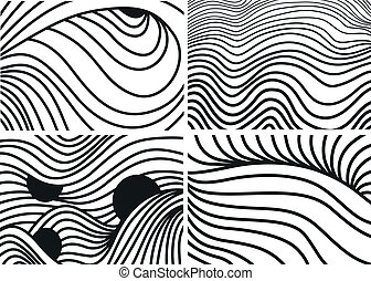 seamless, vettore, modelli, con, linee
