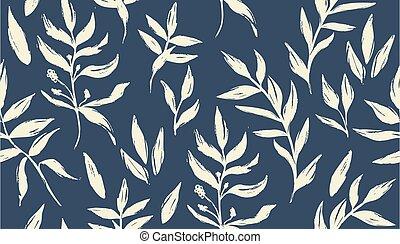 seamless, vettore, pattern., floreale