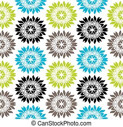 Seamless vibrant colored floral pattern