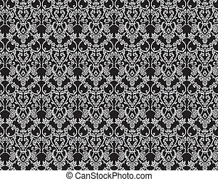 Seamless victorian floral background. XXL