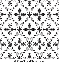 Seamless victorian royal vector texture with fleur-de-lis