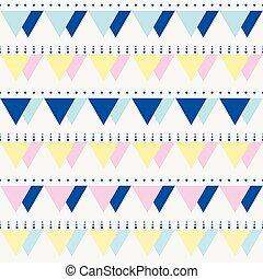 seamless, vindima, abstratos, padrão, com, triângulos, em,...