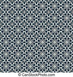 seamless, vindima, ornamental, padrão