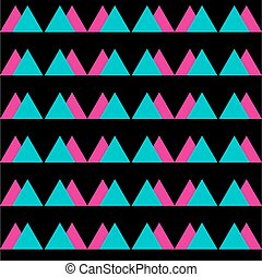 Seamless vintage abstract pattern with triangles in the style of 80's. Fashion background in Memphis.