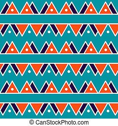 Seamless vintage abstract pattern with triangles in the style of 80's. Fashion background in Memphis style.