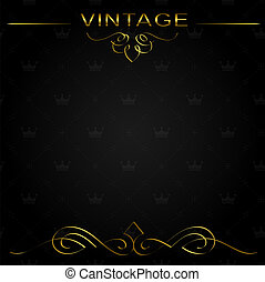 Seamless vintage background or frame