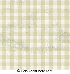 Seamless vintage beige ornament checkered on grange paper