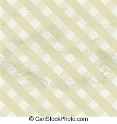 Seamless vintage beige pattern of crossed strips on grange...