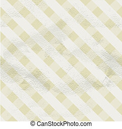 Seamless vintage beige pattern of crossed white strips on...