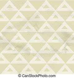Seamless vintage beige pattern of geometric pattern of...
