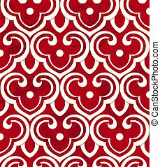 Seamless Vintage Chinese Background Chinese curve spiral ...