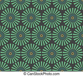 Seamless vintage circular pattern. Vector abstract...