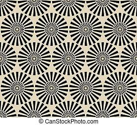 Seamless vintage circular pattern. Monochrome vector...
