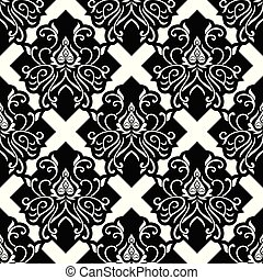 Seamless vintage damask wallpaper design