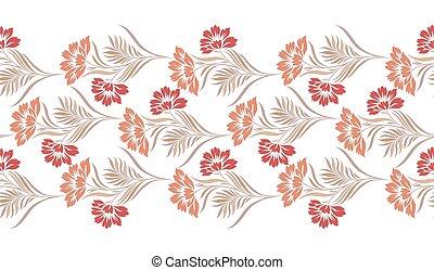 Seamless vintage floral border design