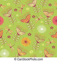 seamless vintage flower pattern background