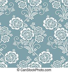 Seamless vintage flower pattern design