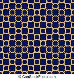 Seamless Vintage Geometric Lattice Pattern