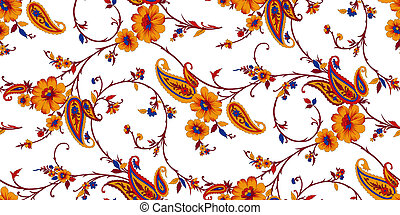 Seamless vintage paisley pattern