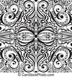 Seamless vintage pattern - Elegant vintage background....